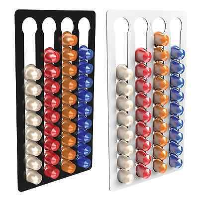 4 Bay 40 Nespresso Capsule Coffee Pod Holder Stand Container Wall Display Rack