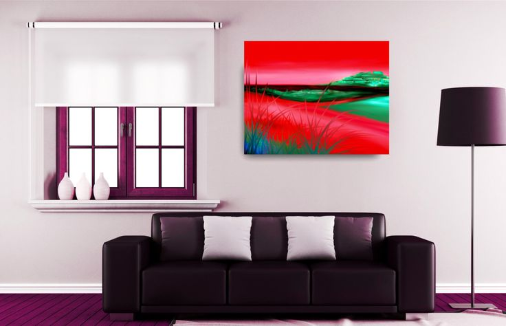 ID53 Colourful Large or Small Abstract Landscape. Instant colour to home or office decor. Printable Art Instant Download Digital Images by ElcoStudio on Etsy