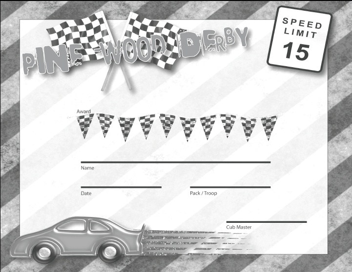 Pinewood Derby Printables Top Result Templates For