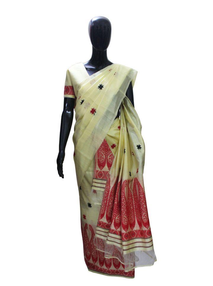 #MekhelaChadar #Assam #Silk #PaisleyDesign
