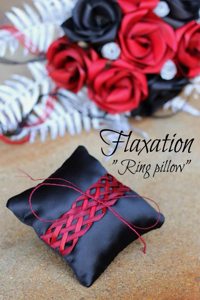 Flax ring pillow by Flaxation.                www.flaxation.co.nz