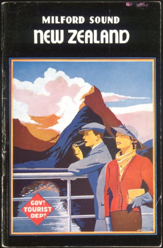 Milford Sound, South Island, New Zealand - Vintage Travel Poster