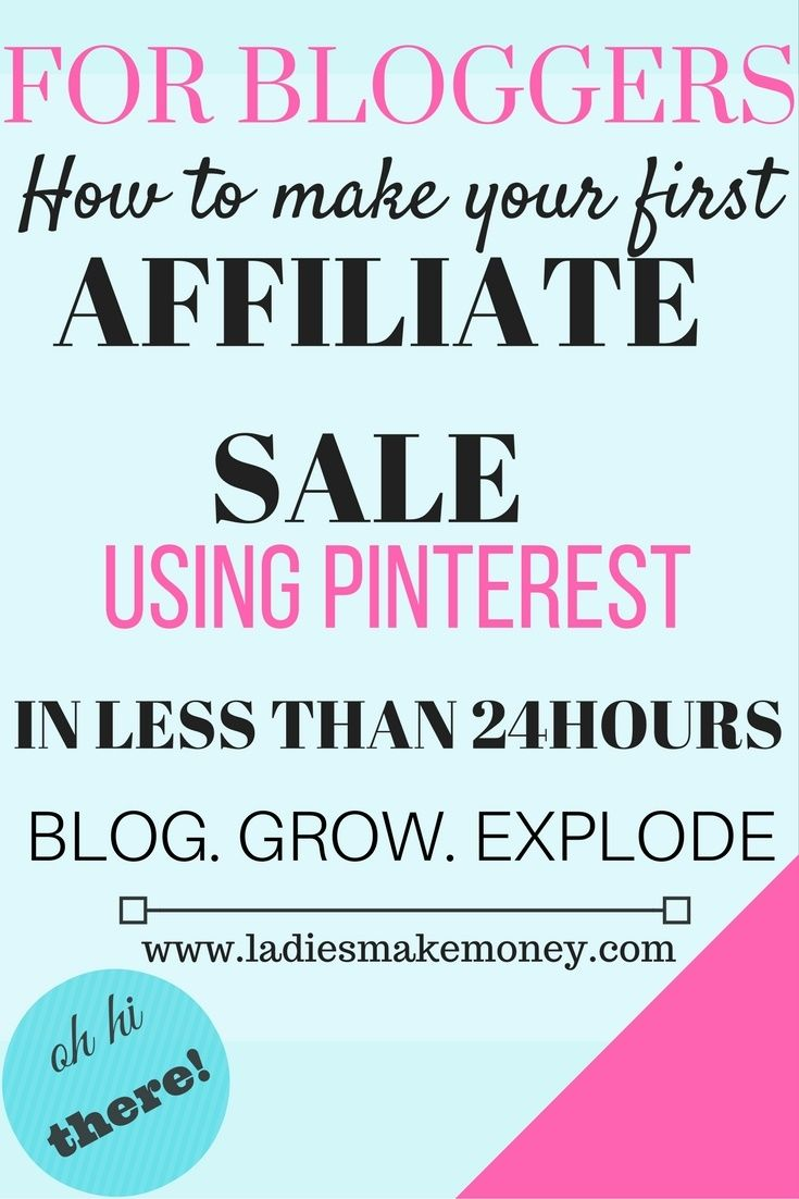 How to make your first affiliate sale from your blog in less than 24 hours. Affiliate marketing, making money with affiliate marketing, growing your business with affiliate marketing.