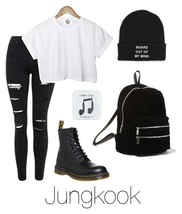"""Jungkook Inspired w/ Dr. Martens"" by btsoutfits ❤ liked on Polyvore featuring Topshop, Vans, J.Crew, CC, Dr. Martens and Steve Madden"