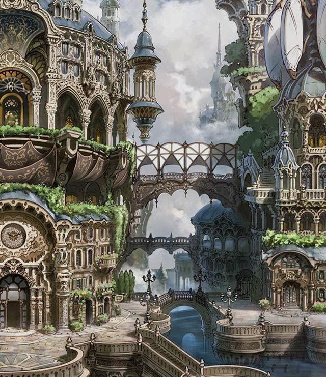 Fantastische Landschafts-RPG-Spiele fantastySFF Du…