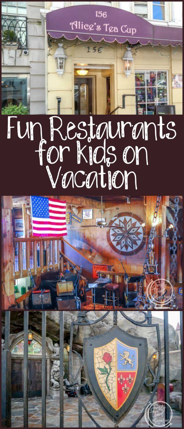 Fun Restaurants for Kids on Vacation, including restaurants in Arizona, California, Texas, New York City, Florida, and Maryland.