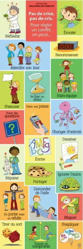 Idée en cas de conflits des enfants à la maison,tirer une carte.Nurvero - La vie en classe -