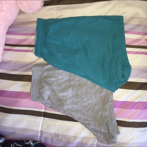 Teal & Grey Soffee Shorts Two pairs of Soffee shorts that are very comfy and perfect for working out. Bundle up for a discount Soffe Shorts