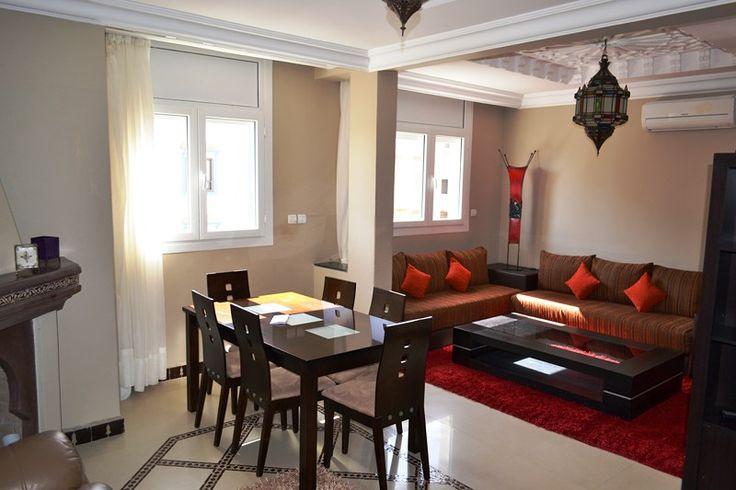 appartement marocaine apparetements marocaines en 2019 pinterest salon marocain salon. Black Bedroom Furniture Sets. Home Design Ideas