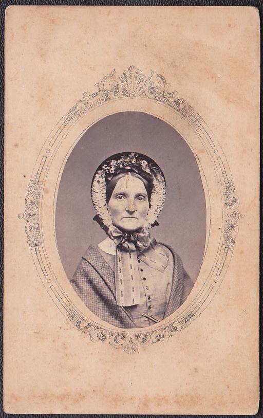 Civil War Era Women's High Fashion & Bonnet - Carte de Visite CDV Photo | eBay