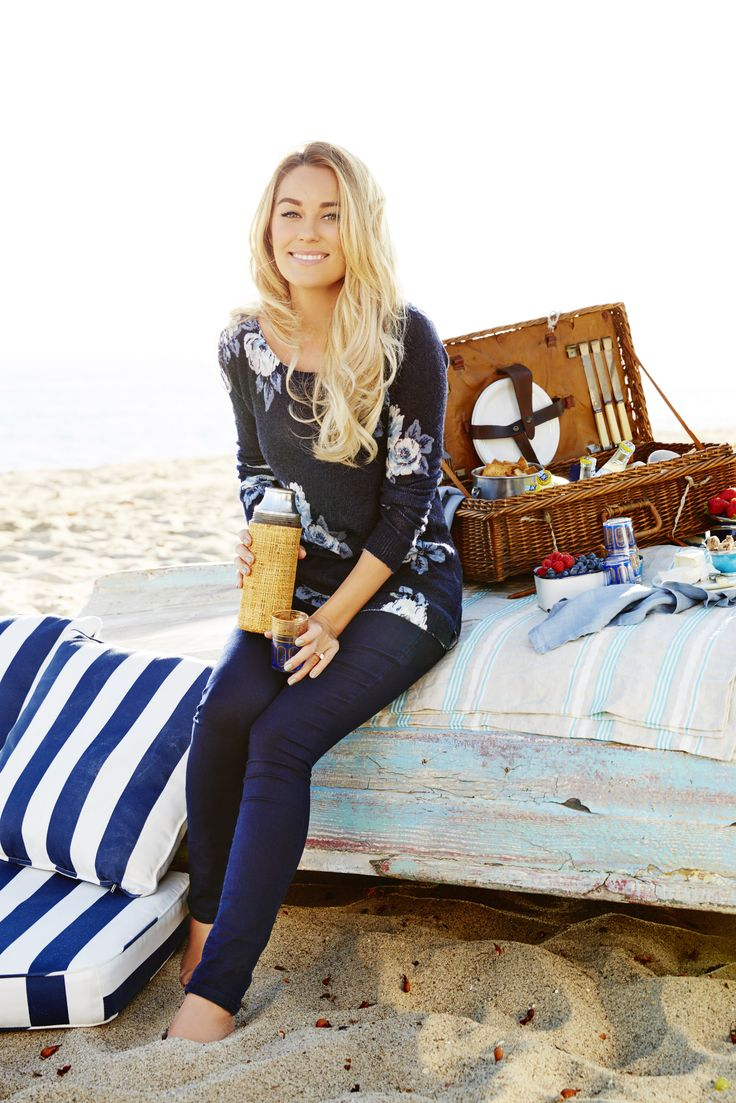 Lauren Conrad wearing an LC Lauren Conrad for Kohl's Floral Print Sweater
