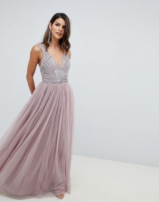 76225ff724 ASOS DESIGN | ASOS DESIGN maxi dress in tulle with embellished bodice