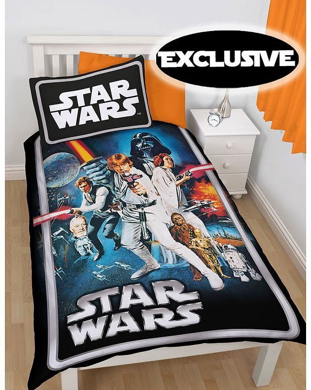Star Wars Clone Wars Star Wars Poster Single Duvet Cover - Exclusive Pre-Order this item today for delivery in early December 2014. Exclusive design to PriceRightHome. Official Star Wars merchandise. Design is based on the original 1977 film poster. http://www.comparestoreprices.co.uk//star-wars-clone-wars-star-wars-poster-single-duvet-cover--exclusive.asp