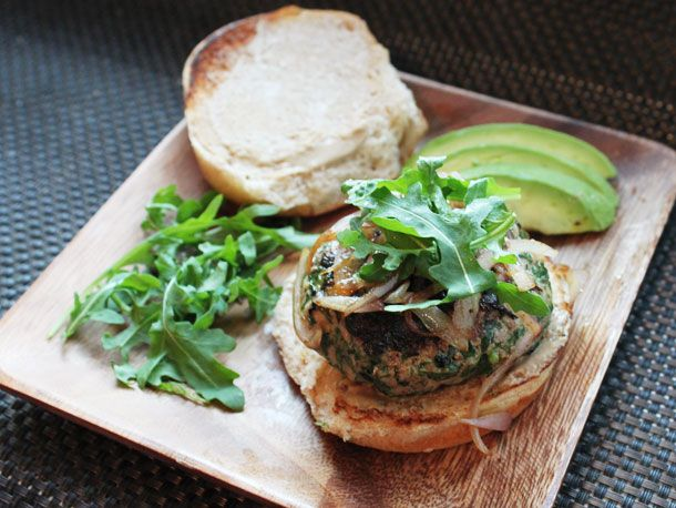 Recipe: Herb-Filled Turkey Burger with Cheddar Cheese #burger #recipe ...