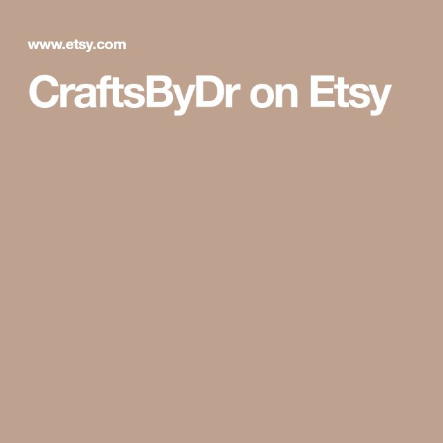 CraftsByDr on Etsy