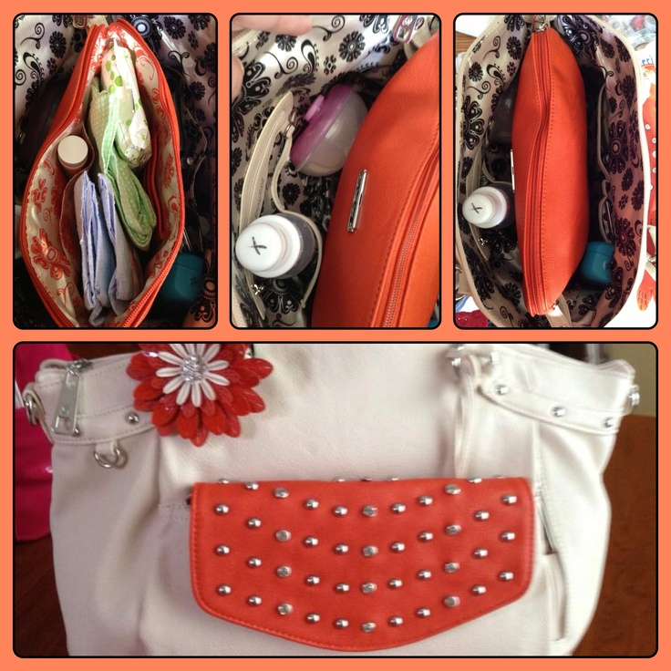 Grace Adele Shelby purse, Grace Adele Rae clutch, Grace Adele tablet tote all used as a diaper bag