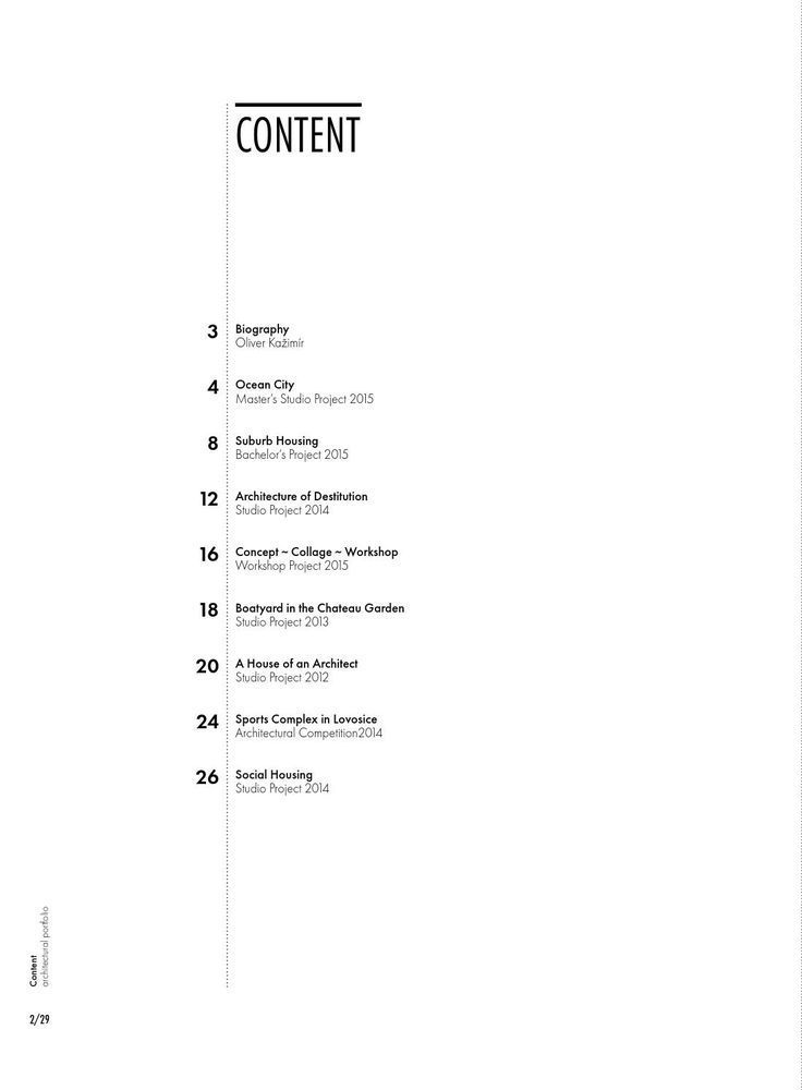 Oliver Kažimír Architekturportfolio 2016 – #Architekturportfolio # Kažimir #Ol