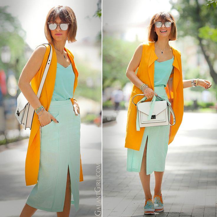 mint with orange