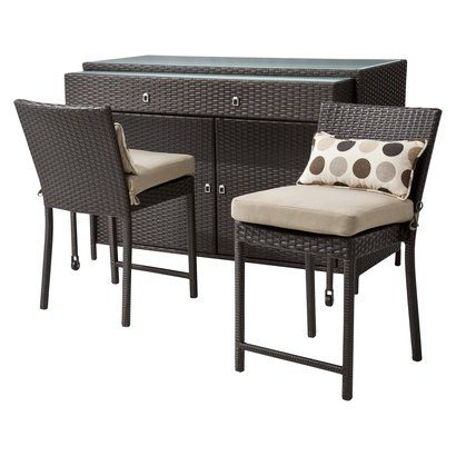 LEXUS 3 PIECE WICKER PATIO BAR SET $646.92