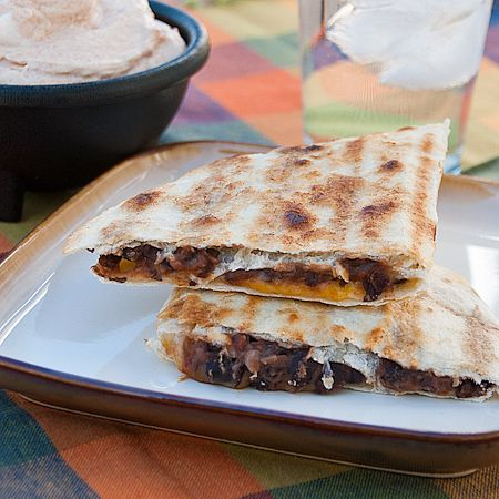 Grilled Black Bean and Cheese QuesadillaBlack Bean And Cheese, Black Beans And Cheese, Black Bean Quesadillas, Grilled Quesadillas, Beans And Chees Quesadillas, Cheese Quesadillas, Mr. Beans, Grilled Beef Quesadillas, Grilled Black