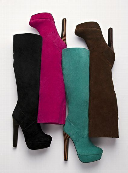 Suede Slouch Boot - Colin Stuart - Victoria's Secret ...I think I like the Teal the best. $158