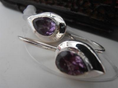 Amethyst sterling silver earringsSterling Silver Earrings, Gemstones Earrings, Amethysts Earrings, Silver Amethysts