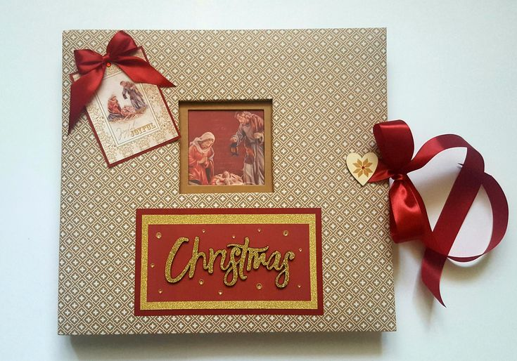 Promo 15%OFF Big 35/35cm Christmas Handmade Photo album gift by HomemadeTreasuresss on Etsy