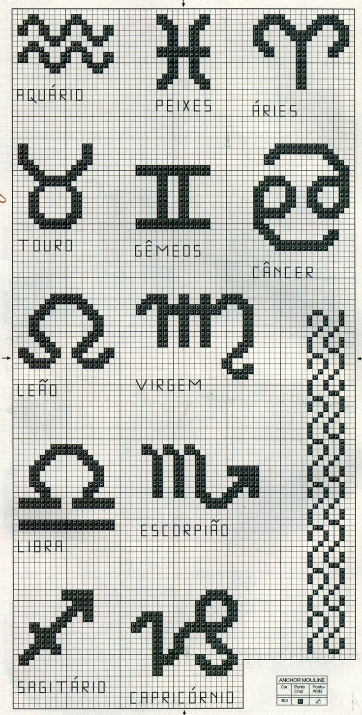 Zodiac x-stitch