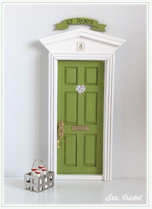 como hacer la puerta del ratón perez 5 Sra. Cricket