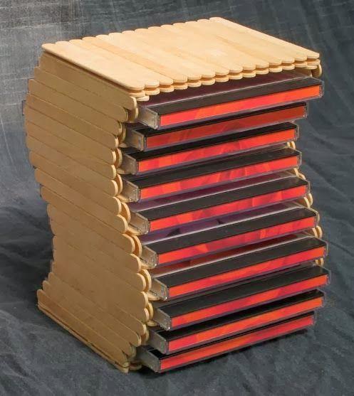 Cara Membuat Tempat DVD Melengkung dari Stik Es Krim   Cara Membuat kerajinan tangan Membuat Kerajinan Tangan