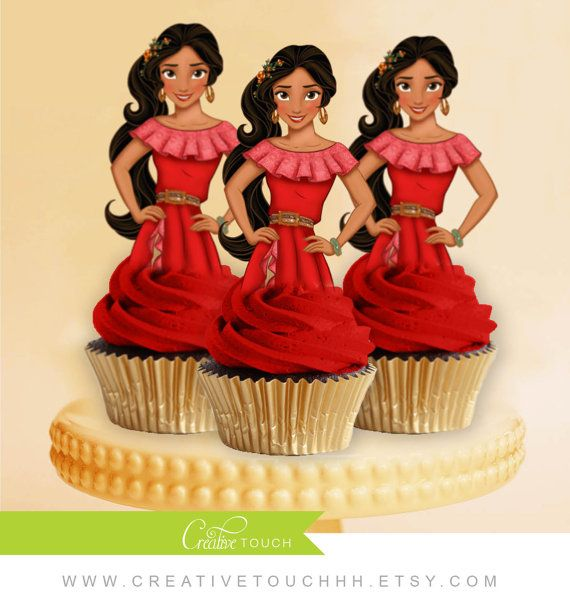 Princess Elena of Avalor Cupcake Toppers Princess Cupcake