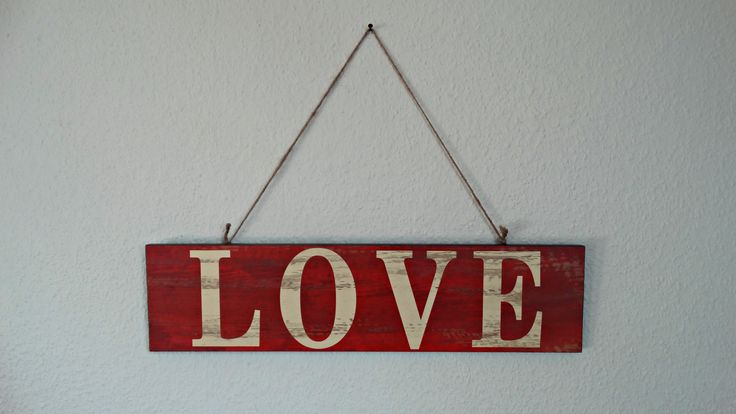 Valentine Room Decor - Love Sign.