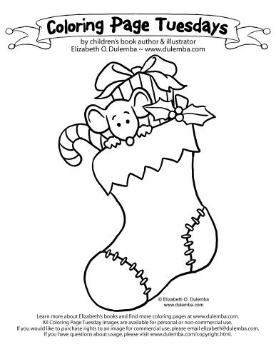 decorated christmas stockings coloring pages - photo#21