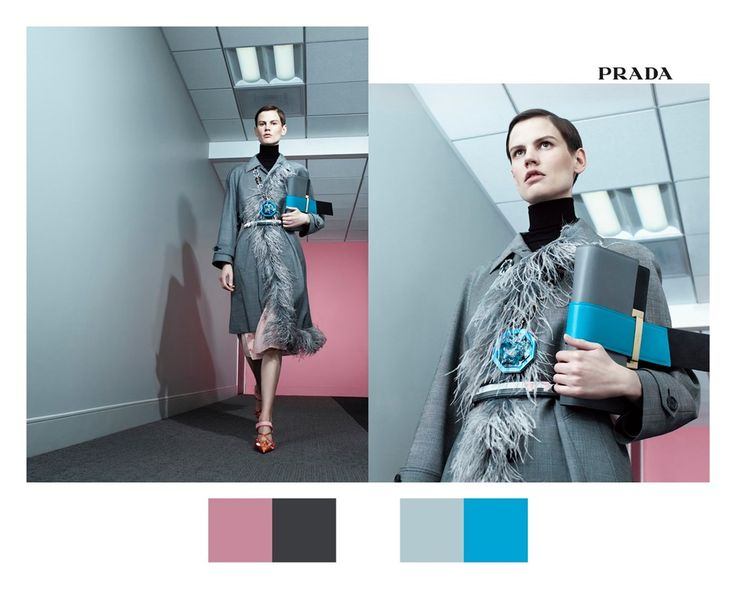 Prada's spring campaign may be a series of short stories, but this one is certainly a contemporary noir, starring Saskia de Brauw as a modern Hitchcock heroine. Here, electric blue marabou feathers, a little black dress and zingy pink leather steal the show – and sit contrastingly to the hauntingly mundane wood-panelled corridor.