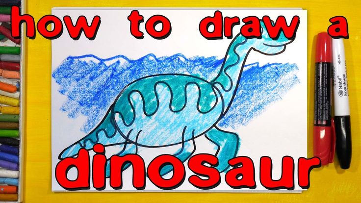 How to draw a dinosaur for children.
