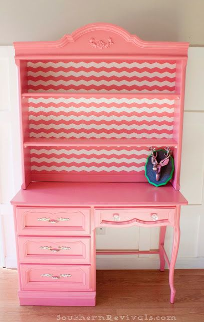 French Provincial Desk & Hutch | From Vintage French to Oh la la - Southern Revivals