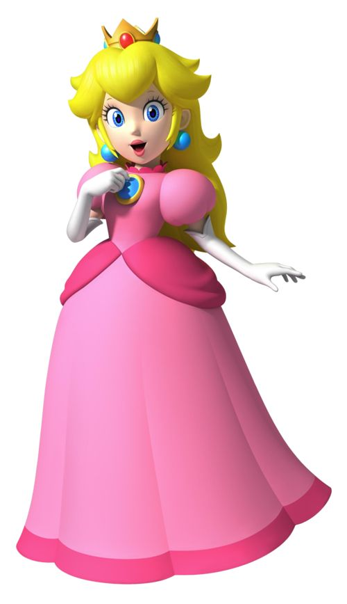 My reference for a Princess Peach cosplay. I think I'll make a Peach costume for Halloween this year