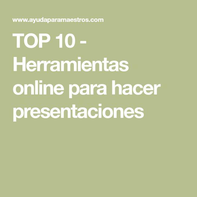 TOP 10 - Herramientas online para hacer presentaciones