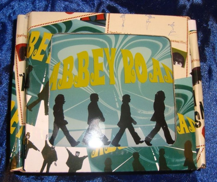 BEATLES COASTERS-4  COOL ALBUM COVERS-NEW-BOXED~HELP-SGT PEPPER-HARD/NIGHT-ABBEY