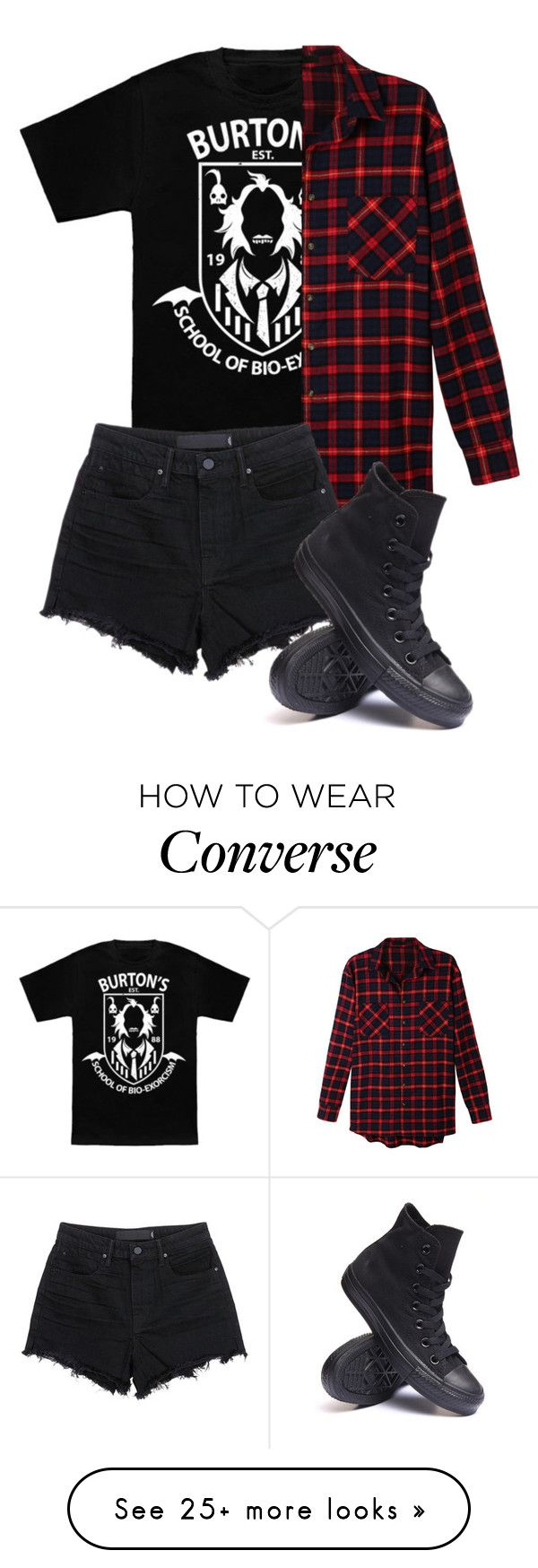 """Untitled #533"" by bands-are-my-savior on Polyvore featuring Burton, LE3NO, T By Alexander Wang and Converse"