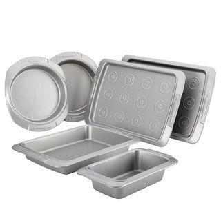 Cake Boss Deluxe Nonstick Bakeware 6-piece Bakeware Set, Grey  $70  Overstock.com
