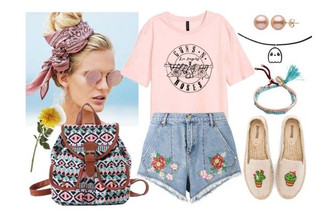 """""""Verano Tropical"""" by abigail-15-love on Polyvore featuring moda, Beach Riot, House of Holland, Soludos, Billabong y Crate and Barrel"""