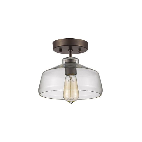 this 1light semi flush mount features oil rubbed bronze finish that will complement many loft urban industrial and decors