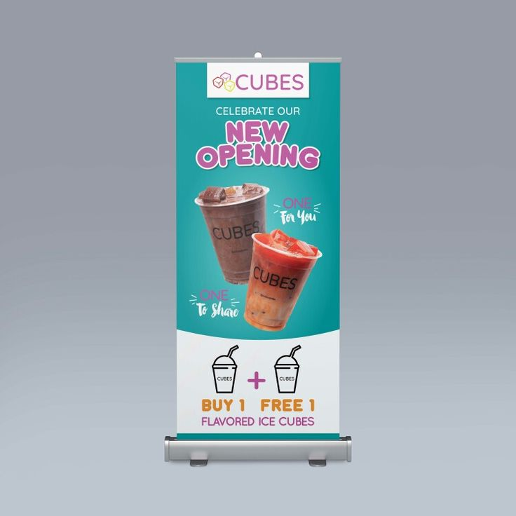 standing banner for ice cubes | Desain banner, Poster ...