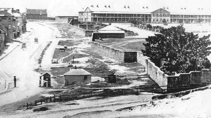 South Head Road winds its way up a hill through Paddington past Victoria Barracks in the eastern suburb of Sydney (year unknown).