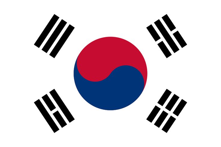 This is the flag of South Korea.South Korea is a country.