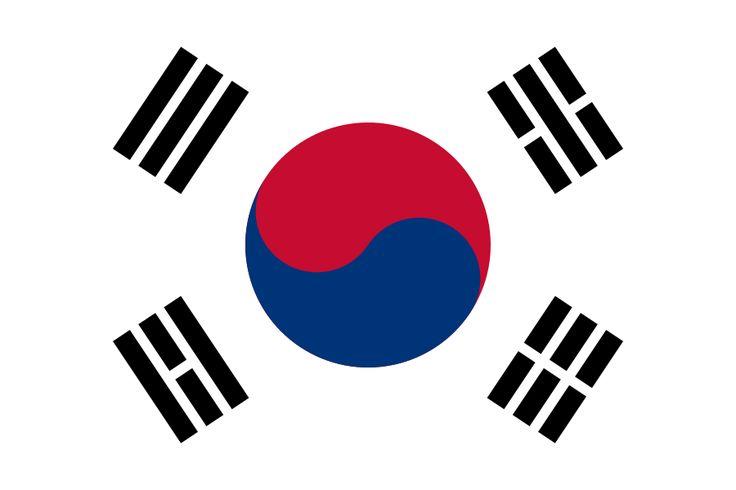 Flag of South Korea - Galeria de bandeiras nacionais – Wikipédia, a enciclopédia livre