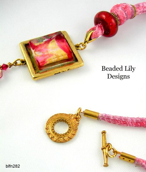 Italian Wire Mesh Ribbon w/ Silk-Satin Cord Insert [blfn282] - £41.00 : BeadedLily Designs Jewellery Shop: Brighton Hove, East Sussex UK, Handcrafted Beaded Jewellery