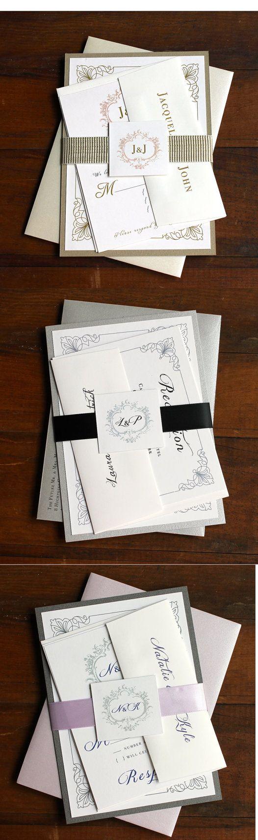 Classic Love Customizable Navy Blue Wedding Invitations