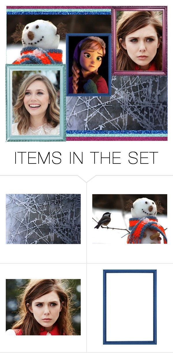 """""""Disney Dreamcast: Elizabeth Olsen as Anna"""" by amarie104 ❤ liked on Polyvore featuring art"""